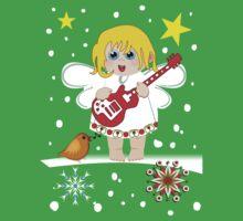 Music Christmas Angel Tee Baby Tee