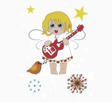 Music Christmas Angel Tee Kids Clothes