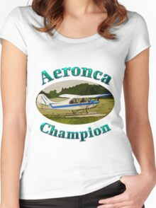 Aeronca Champ on floats Women's Fitted Scoop T-Shirt