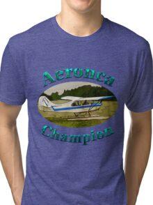 Aeronca Champ on floats Tri-blend T-Shirt