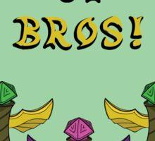 "League of Legends ""Ward Up Bros!"" Fan Art Design Sticker"