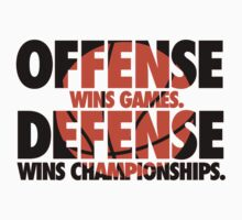 Offense wins games, defense wins championships Kids Clothes