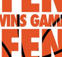 Offense wins games, defense wins championships Sticker