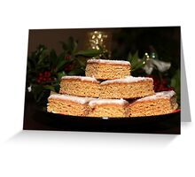 Delicious plate of Christmas Cookies Greeting Card