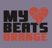 Basketball - My heart beats orange Kids Tee