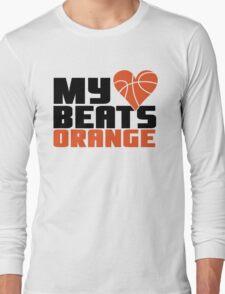 Basketball - My heart beats orange Long Sleeve T-Shirt