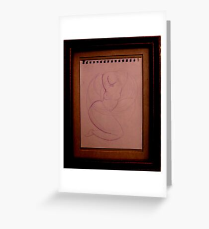 abstract divinci Greeting Card