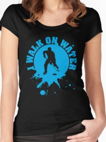 Hockey: I walk on water Women's Fitted Scoop T-Shirt