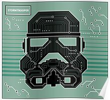 Stormtrooper Electronic Circuit Board Poster