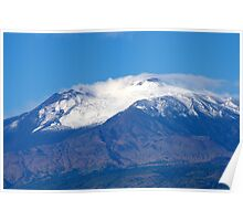 First Winter Snow 2013 Mount Etna Poster