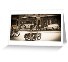 Wintry street Greeting Card