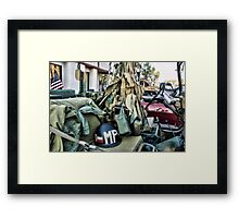 Military Jeep Framed Print