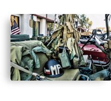 Military Jeep Canvas Print