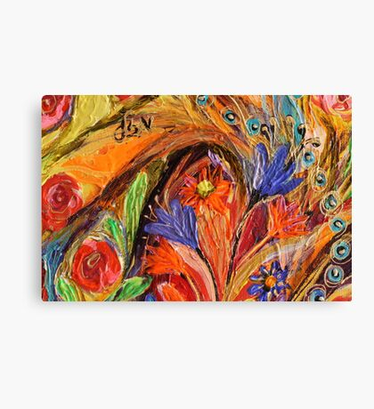 Original painting fragment 70 Canvas Print