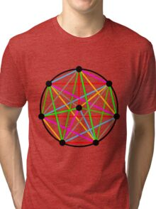 8 Pointed Complete Graph Tri-blend T-Shirt