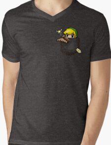 Pocket Link Mens V-Neck T-Shirt