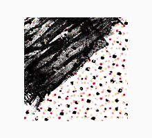 Pink, Black, & Faux Gold Paint Dots & Brushstrokes Classic T-Shirt