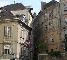 A houses near Franz Josef Kai, Vienna by Ilan Cohen