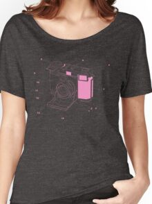 Contessa Retro Camera - Pink Women's Relaxed Fit T-Shirt