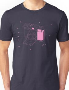 Contessa Retro Camera - Pink Unisex T-Shirt
