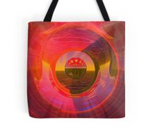 Abstract Digital Painting #32 Techno and Spots Rampage Tote Bag
