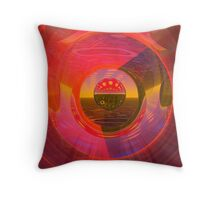 Abstract Digital Painting #32 Techno and Spots Rampage Throw Pillow