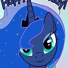 Princess Luna Birthday Card - Postcard My Little Pony by FalakTheWolf