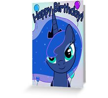 Princess Luna Birthday Card - Postcard My Little Pony Greeting Card