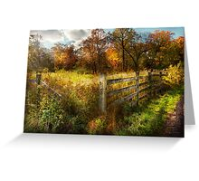 Country - Autumn years  Greeting Card
