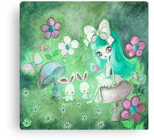 Bunny Glade Canvas Print