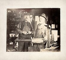 Cabinet Card: Early 20th Century Tinsmiths by toolemera