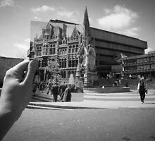 Mason College, Chamberlain Square 1960, Black & White by Tim Cornbill