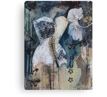 Black And White Corset Canvas Print