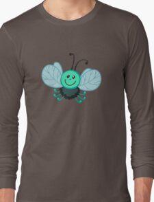 Funny cartoon green fly gadfly Long Sleeve T-Shirt