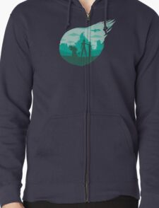 Valley of the fallen star Zipped Hoodie