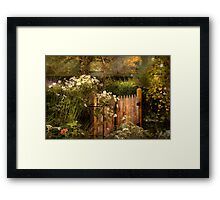 Country - Country autumn garden  Framed Print