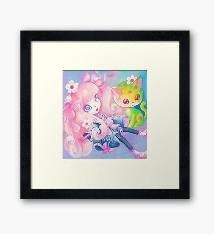 Sweet Kitty Time Framed Print