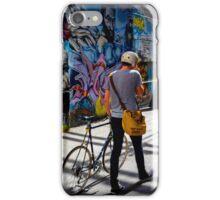 Graffiti Cyclist iPhone Case/Skin