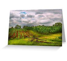 Farm - Organic farming  Greeting Card