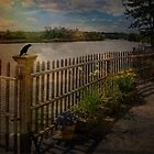 Crow Messenger at Saugerties Lighthouse by PineSinger