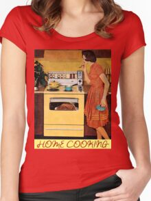 Home Cooking  Women's Fitted Scoop T-Shirt