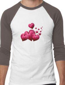 Dancing Hearts Men's Baseball ¾ T-Shirt