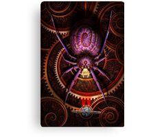 Steampunk - The webs we weave Canvas Print
