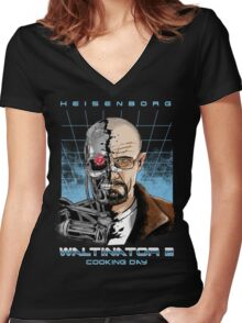 Heisenborg ... Waltinator 2 - Cooking Day Women's Fitted V-Neck T-Shirt