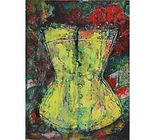 Yellow Corset Photographic Print