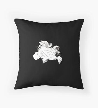 sleeping man Throw Pillow