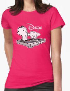 Dope! DJ Cartoon Hands Womens Fitted T-Shirt