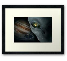 the time traveller Framed Print