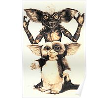Gizmo and Spike from Gremlins Poster