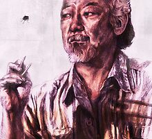 Mr. Miyagi from Karate Kid by AaronBir